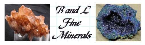 B and L Fine Minerals not only defines what a mineral is but identifies and provides photos of different minerals that they sell.
