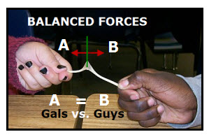 Balanced Forces on a Wishbone