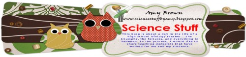 The Header for Amy Brown's Science Stuff Blog
