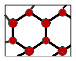 Ice is formed when water molecules linked forming hexagonal cells that build on each other in three dimensions.