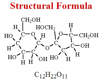 Structural Formula for Sucrose