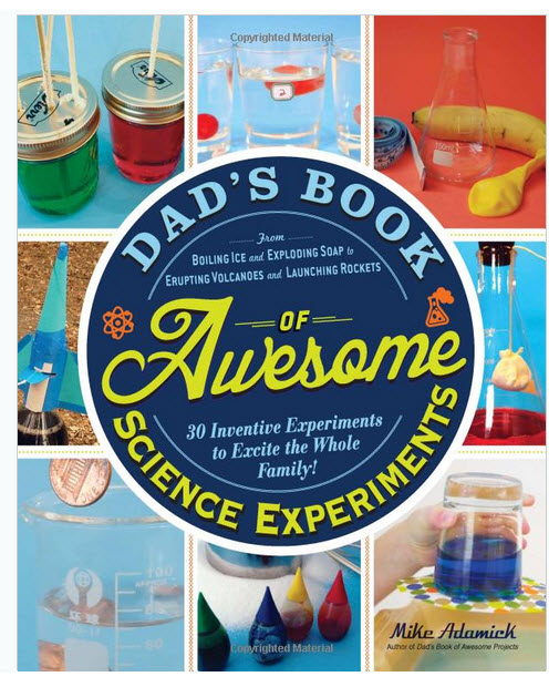 Colorful Jacket of Mike Adamick's Fun Science Book.